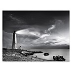 Courtside Market Black and White Lighthouse Canvas Wall Art