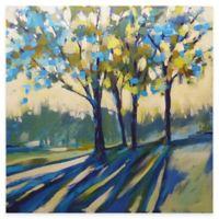 Blue Shadow Tree Canvas Wall Art