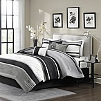 Madison Park Blaire 7-Piece Queen Comforter Set in Grey
