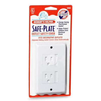 mommyu0027s helper white safeplate decorative outlet cover