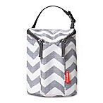 SKIP*HOP® Chevron Grab & Go Double Bottle Bag in Grey/White