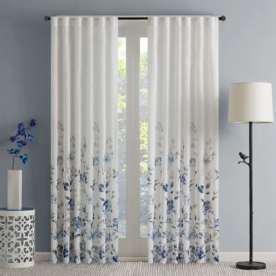 Regency Heights Isla Floral Sheer 63 Inch Rod Pocket Window Curtain Panel In
