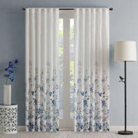 Regency Heights Regency Heights Isla Floral Sheer 84-Inch Rod Pocket Window Curtain Panel in Blue