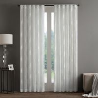 Regency Heights Aria Stamp Sheer 108-Inch Rod Pocket Window Curtain Panel in White