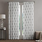 Regency Heights Aria Stamp Sheer 84-Inch Rod Pocket Window Curtain Panel in Taupe