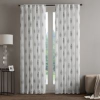 Regency Heights Aria Stamp Sheer 108-Inch Rod Pocket Window Curtain Panel in Taupe