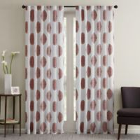Regency Heights Perry 63-Inch Sheer Rod Pocket Window Curtain Panel in Red