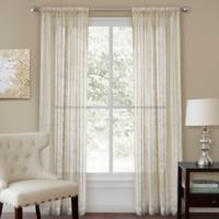 Firna 63-Inch Sheer Rod Pocket Window Curtain Panel in Natural
