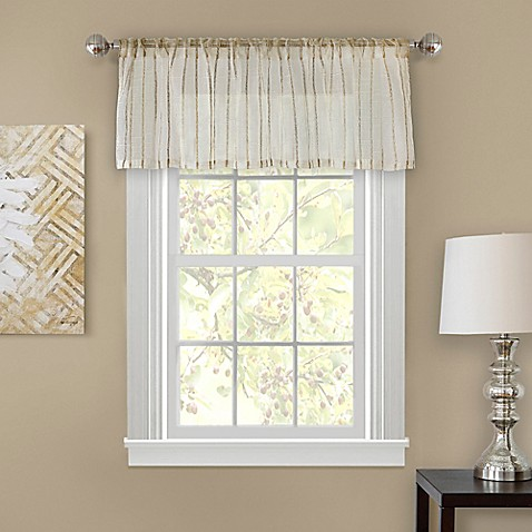 buy firna 18 inch sheer window valance in natural from bed