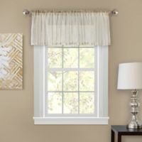 Firna 18-Inch Sheer Window Valance in Natural