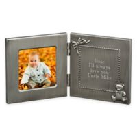 3-Inch x 3-Inch Picture Frame with Engraving Plate in Pewter