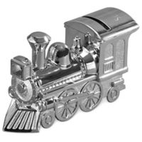 Train Bank in Brushed Silver