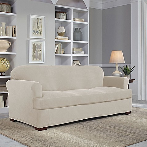 Perfect Fit 174 Easy Fit 2 Piece T Sofa Slipcover Bed Bath