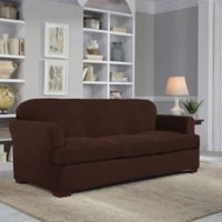 Perfect Fit® Easy Fit 2-Piece T-Sofa Slipcover in Chocolate