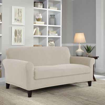 Perfect Fit® Easy Fit 2-Piece Loveseat Slipcover