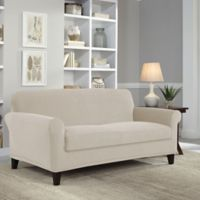 Perfect Fit® Easy Fit 2-Piece Loveseat Slipcover in Putty