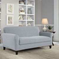 Perfect Fit® Easy Fit 2-Piece Loveseat Slipcover in Grey
