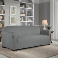 Perfect Fit® Reversible Sofa Slipcover in Steel