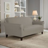 Perfect Fit® Reversible Loveseat Slipcover in Graphite