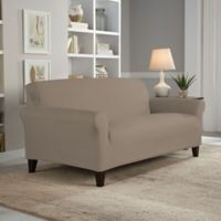 Perfect Fit® Reversible Loveseat Slipcover in Khaki