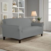 Perfect Fit® Reversible Loveseat Slipcover in Steel