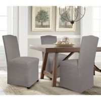 Perfect Fit® Reversible Parsons Chair Slipcover in Graphite