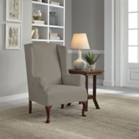 Perfect Fit® Reversible Wing Chair Slipcover in Graphite