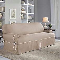 Perfect Fit Reg Clic Twill T Sofa Slipcover