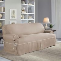 Perfect Fit® Classic Twill T-Sofa Slipcover in Taupe
