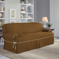 Perfect Fit® Classic Twill T-Sofa Slipcover in Cocoa