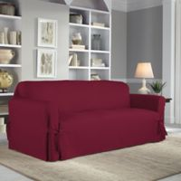 Perfect Fit® Classic Relaxed Fit Sofa Slipcover in Garnet