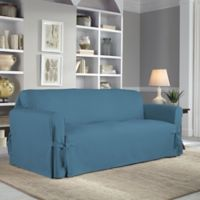 Perfect Fit® Classic Relaxed Fit Sofa Slipcover in Vintage Blue