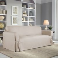 Perfect Fit® Classic Relaxed Fit Sofa Slipcover in Stone