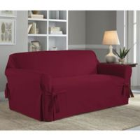 Perfect Fit® Classic Relaxed Fit Loveseat Slipcover in Garnet