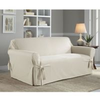 Perfect Fit® Classic Relaxed Fit Loveseat Slipcover in Parchment