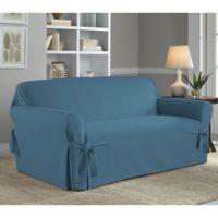 Perfect Fit® Classic Relaxed Fit Loveseat Slipcover in Vintage Blue