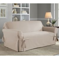 Perfect Fit® Classic Relaxed Fit Loveseat Slipcover in Stone