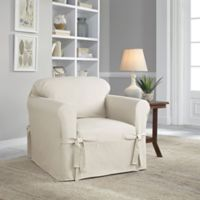 Perfect Fit® Classic Relaxed Fit Chair Slipcover in Parchment