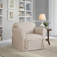 Perfect Fit® Classic Relaxed Fit Chair Slipcover in Stone