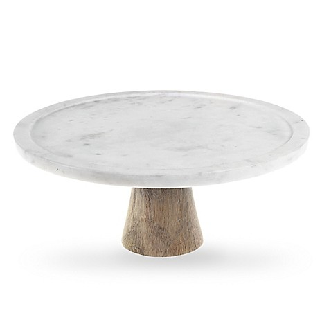 marble cake stand artisanal kitchen supply 174 white marble and wood cake stand 5702