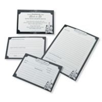 Lillian Rose™ 24-Pack Recipe Cards in Black and White