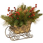 National Tree Company 10-Inch Decorative Collection Needle Pine Cone Sleigh