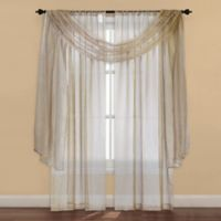 Strive Sheer Window Scarf Valance in Ivory