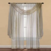 Strive Sheer 108-Inch Window Curtain Panel in Gold