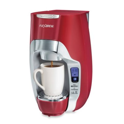 Coffee Makers Sold At Bed Bath And Beyond : Hamilton Beach FlexBrew Programmable Single-Serve Coffee Maker in Red - Bed Bath & Beyond