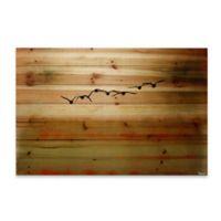 Parvez Taj Sun Flight 36-Inch x 24-Inch Wood Wall Art