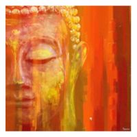 Parvez Taj Buddha 48-Inch x 48-Inch Canvas Wall Art
