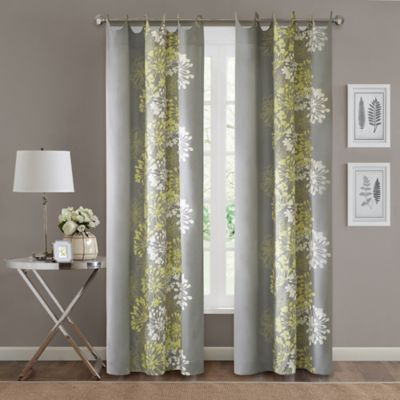 Madison Park Serendipity 84 Inch Window Curtain Panel In Grey