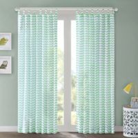 Regency Heights Aya 63-Inch Chevron Tab Top Window Curtain Panel in Mint