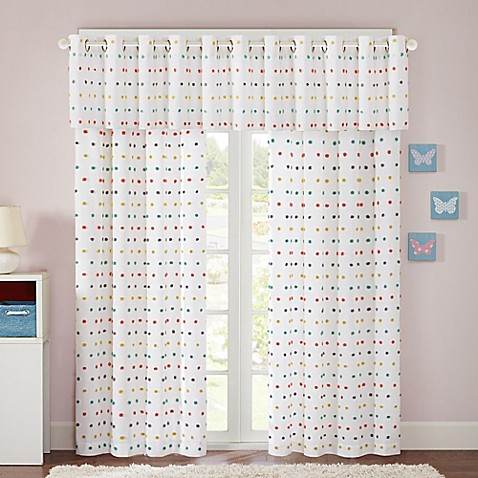 Regency Heights Chloe Pom Window Curtain Panel And Valance